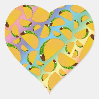 Rainbow tacos heart sticker