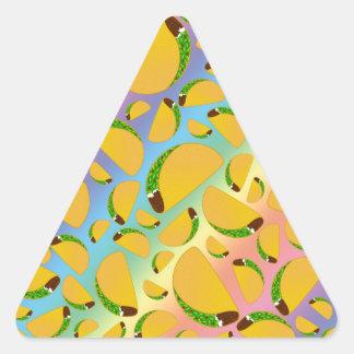 Rainbow tacos triangle sticker