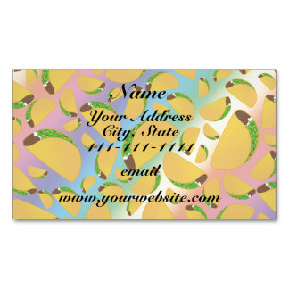 Rainbow tacos magnetic business cards (Pack of 25)