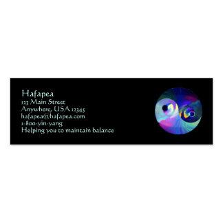 Rainbow Taijitu Yin Yang Double-Sided Mini Business Cards (Pack Of 20)
