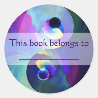 Rainbow Taijitu Yin Yang Classic Round Sticker