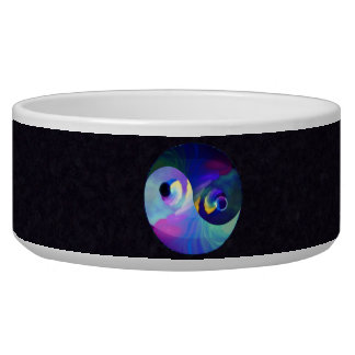Rainbow Taijitu Yin Yang Pet Water Bowl