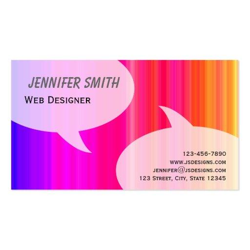 Rainbow Talk Bubbles Business Card