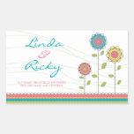 Rainbow Tall Flowers Wedding Sticker Seal