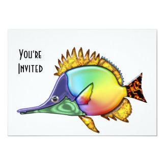 Rainbow Tang Tropical Fish Card