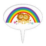 Rainbow Tango-Cute Cartoon Lions Cake Pick