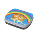 Rainbow Tango-Cute Cartoon Lions Candy Tin