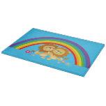 Rainbow Tango-Cute Cartoon Lions Cutting Board