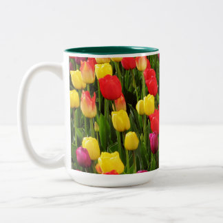 Rainbow Tapestry Two-Tone Coffee Mug
