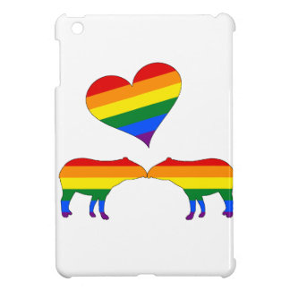 Rainbow tapirs iPad mini covers