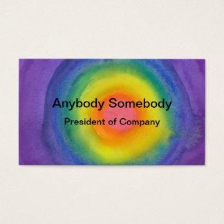 Rainbow Target Business Card