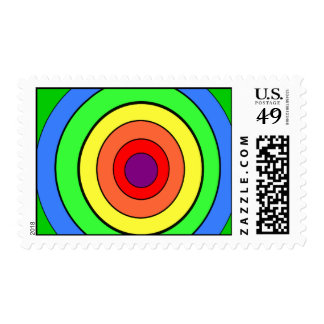 Rainbow target stamps