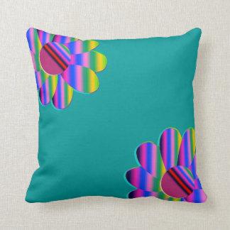 Rainbow Teal Daisy American MoJo Pillows