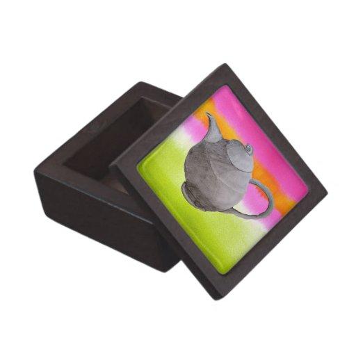 Rainbow Teapot arty tea party Premium Gift Box