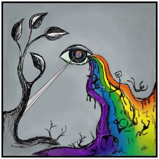 Rainbow Tears Poster print