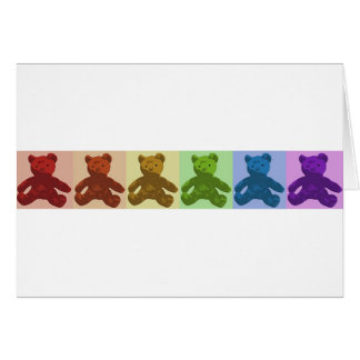 Rainbow Teddy Bears Card
