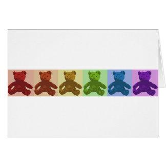 Rainbow Teddy Bears Card