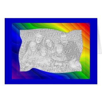 Rainbow Templet Card