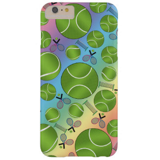 Rainbow tennis balls rackets and nets barely there iPhone 6 plus case