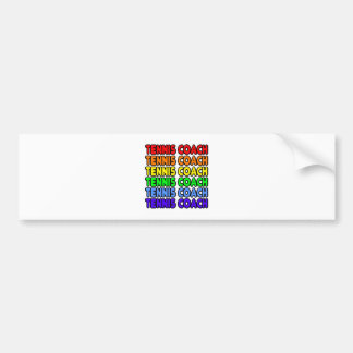Rainbow Tennis Coach Bumper Sticker