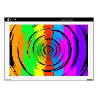 "Rainbow Test Pattern Skins For 17"" Laptops"