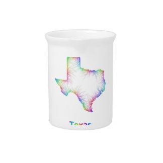 Rainbow Texas map Pitcher