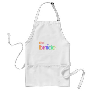 Rainbow Text Bride Tshirts and Gifts Adult Apron