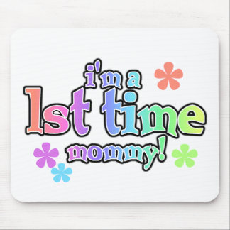 Rainbow Text First Time Mommy Mouse Pad