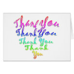 Rainbow thank you heart greeting card