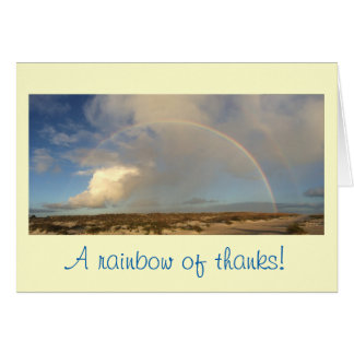 Rainbow thank you note card