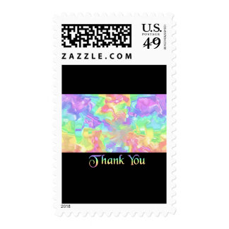 Rainbow Thank You Stamps
