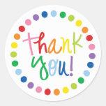 Rainbow Thank You Sticker