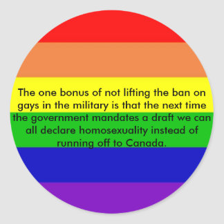 rainbow, The one bonus of not lifting the ban o... Classic Round Sticker