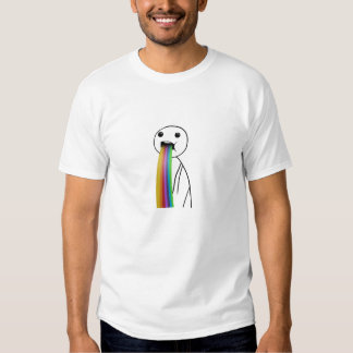 Rainbow throwing up meme T-Shirt