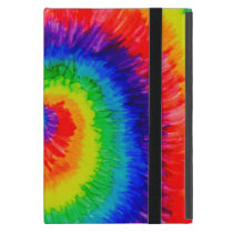 Rainbow Tie-Dye Alcohol Ink Painting Case For iPad Mini