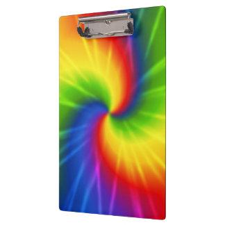 Rainbow (tie-dye) clipboard