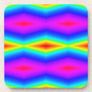 Rainbow tie-dye coaster