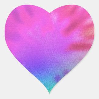 Rainbow tie-dye heart sticker