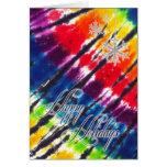 Rainbow Tie-Dye Holiday Card