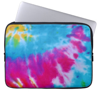 rainbow tie dye laptop case