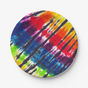 Rainbow Tie-Dye Paper Plate  sc 1 st  Zazzle & Tye Plates | Zazzle