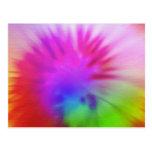 Rainbow tie-dye postcard