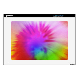 Rainbow tie-dye skin for laptop