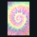 """Rainbow Tie Dye Stationary Stationery<br><div class=""""desc"""">This cool stationary has a hippie tie dye design on it.</div>"""