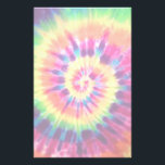 "Rainbow Tie Dye Stationary Stationery<br><div class=""desc"">This cool stationary has a hippie tie dye design on it.</div>"