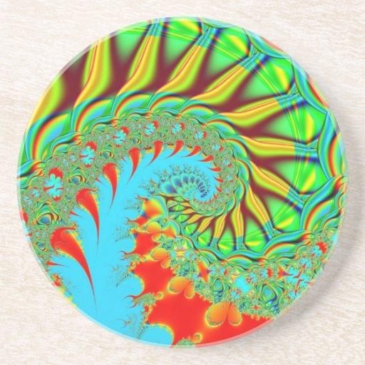 Rainbow Tie Dye Swirl Coaster