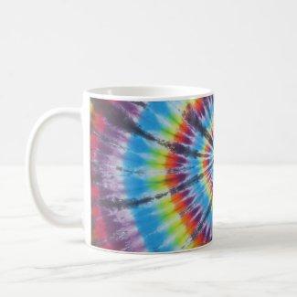 Rainbow Tie Dye Swirl Coffee Mug mug