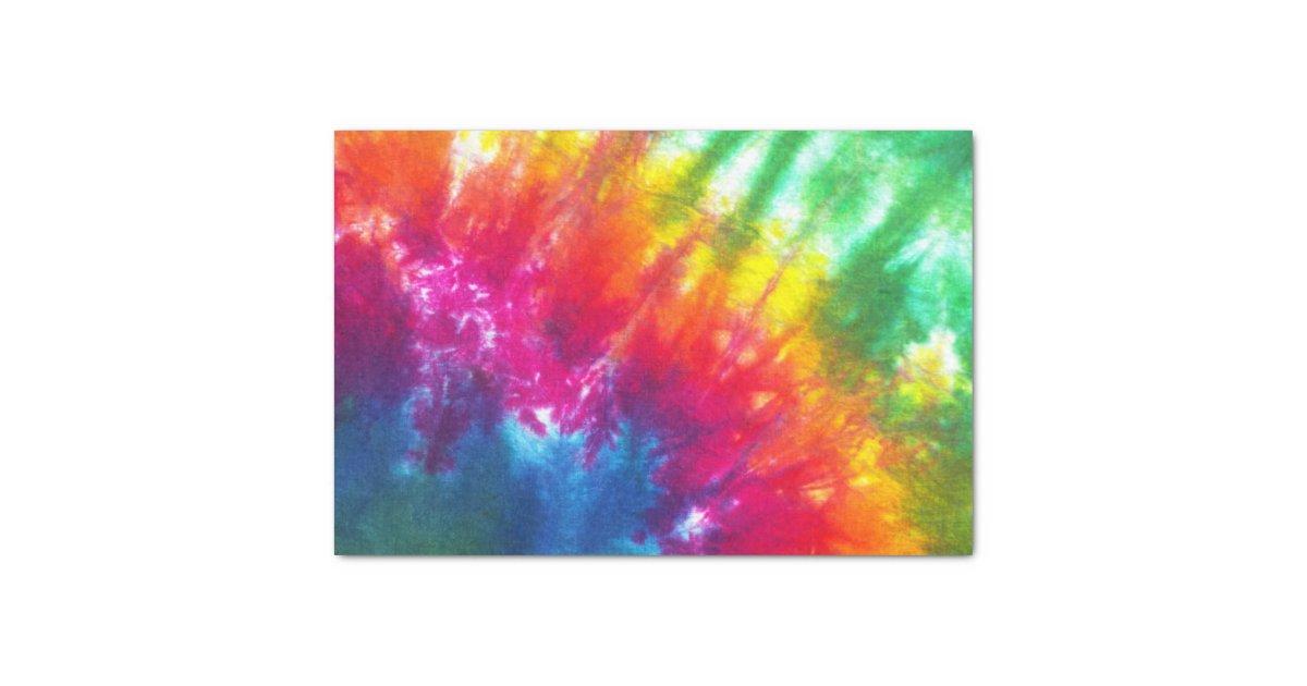 Rainbow tie dye tissue paper zazzle - Tie and dye tissu ...
