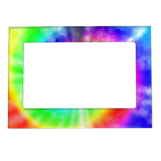 Rainbow Tie Dyed Pattern Magnetic Photo Frame