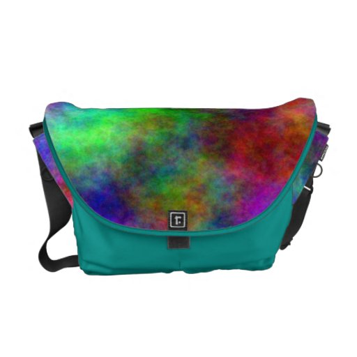 Rainbow tiedye Rickshaw Messenger bag